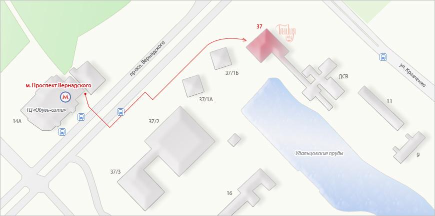 см. увеличенную карту проезда